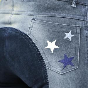 Ridbyxor Denim Star - Helskoning